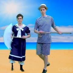 Gay 90's beachcombers.