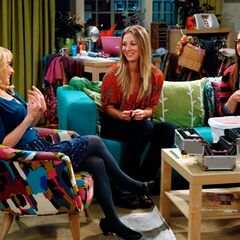 Amy, Penny, Bernadette share some girls' bonding moments.