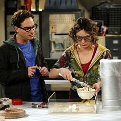 Leslie & Leonard in her lab.