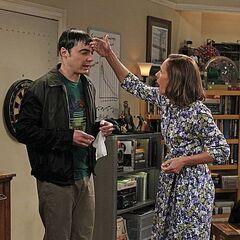 Sheldon is sick.