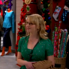 Bernadette listening to Sheldon describing Amy's traits.