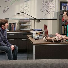 Howard trying to improve his relationship with Sheldon.