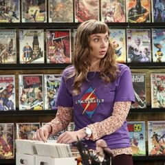 Denise at the comic book store.