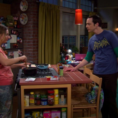Sheldon asking Penny out on a date to make Amy jealous.