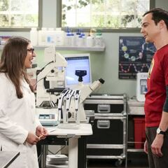 Sheldon checking up on Amy.