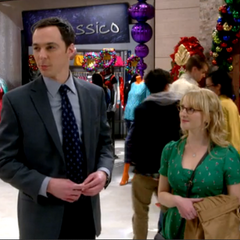 Bernadette and Sheldon at the mall.