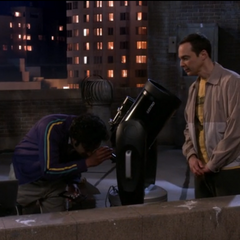 Raj adjusting the telescope.