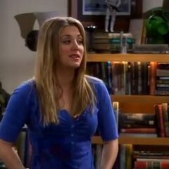 Penny in Leonard and Sheldon's apartment.