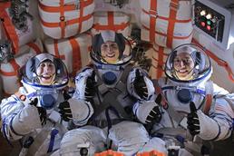 Astronaut with actors