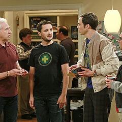 Sheldon at Wil Wheaton's party.