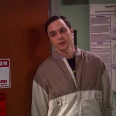 Sheldon apologizing to Amy.