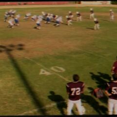 Football game his father recorded over Sheldon's pep talk tape.