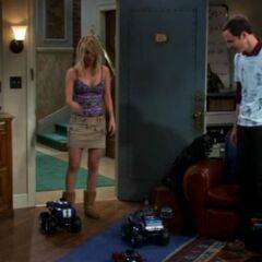 Remote control cars attacking Penny.