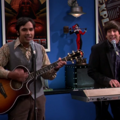 Howard and Raj and their song.