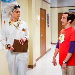 Howard as Sheldon who doesn't realize it.