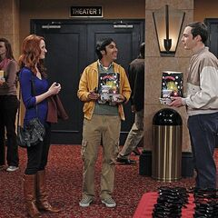 Raj introduces Sheldon to Emily.