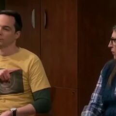 Sheldon blaming Amy for the outburst.