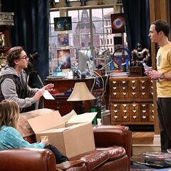 Leonard worried about Sheldon's freaking out about the unreturned DVD.