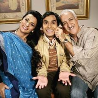 Raj and his parents, Mrs and Mr Koothrappali