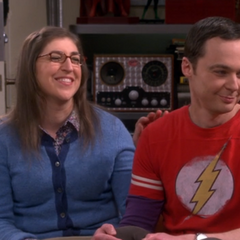 Amy happy that Sheldon wants to marry her.