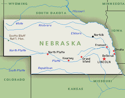 Image Nebraska Mapjpeg The Big Bang Theory Wiki FANDOM - State map of nebraska