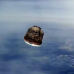 Soyuz capsule during reentry.