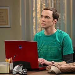 Sheldon in his new office.