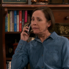 Mary talking to Sheldon.