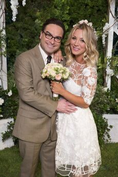 Wedding photo of Penny and Leonard