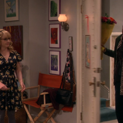 Amy paid Bernadette to slam the door.