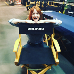 Laura Spencer's name on the chair.