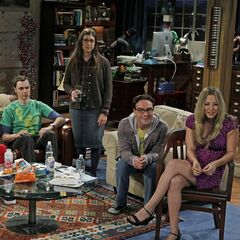 Amy and the gang watches Penny's big acting break, starring in a hemorrhoid commercial.