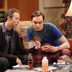 Sheldon and Stuart playing Mystic Warlords of Ka'a.