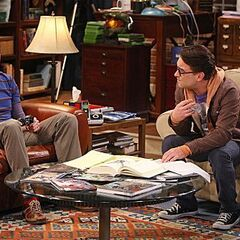 A dejected Sheldon seeks advice from Leonard regarding his problems with Amy.