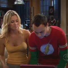 Sheldon and Penny gaming.