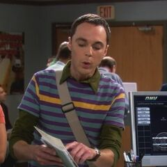 Sheldon questioning the driving test.