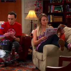 Sheldon and Penny hanging together while Leonard is at sea.