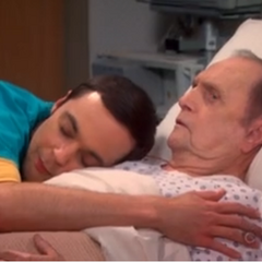 Sheldon and his new father.