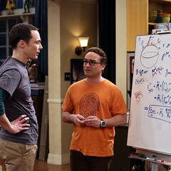 Leonard describing his theory to Sheldon.