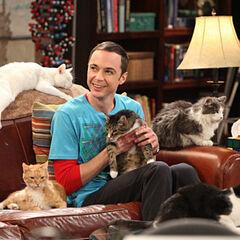 Sheldon holding Zazzles.