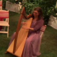 Amy providing the music.