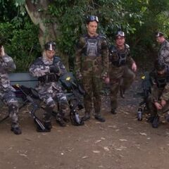 The gang gathers for paintball.