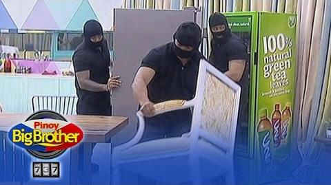 PBB 737 Men in black goes inside the house