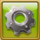 Silver gear-wheel Framed