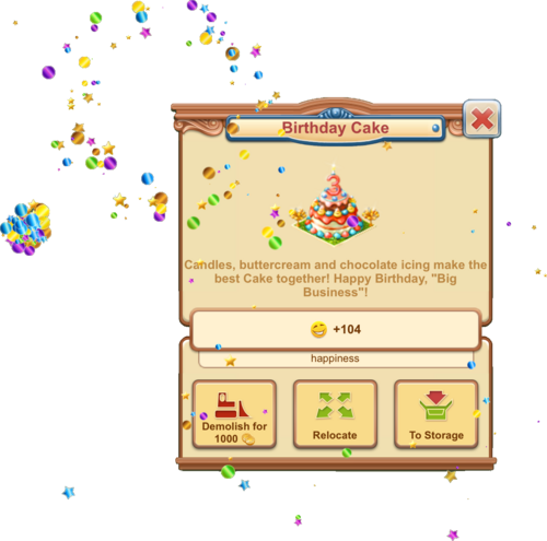 Birthday Cake 3 Fireworks