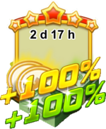 Bank Sale plus 100 percent icon