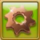 Bronze gear-wheel Framed