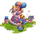 Carnival queen figure