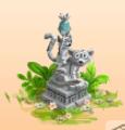Lemuren-Statue