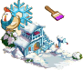 Snowbound doghouse